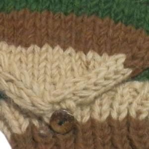 手袋 アジアン衣料 ネパール手編みカバー付き指なし手袋(フリース付)1|e-bingo|02