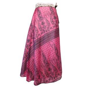 スカート 訳あり アジアン衣料 ネパール・シルク・ラップスカート1 クリックポスト選択 送料200円|e-bingo