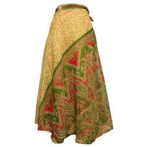 スカート アジアン衣料 ネパール・シルク・ラップスカート10 クリックポスト選択 送料200円|e-bingo