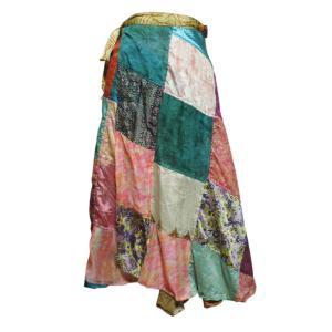 スカート アジアン衣料 ネパール・シルク・ラップスカート11 クリックポスト選択 送料200円|e-bingo
