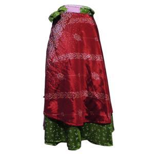 スカート アジアン衣料 ネパール・シルク・ラップスカート12 クリックポスト選択 送料200円|e-bingo