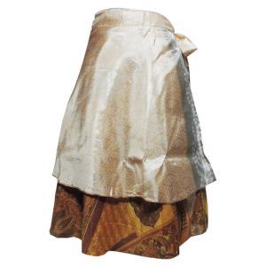 スカート 訳あり アジアン衣料 ネパール・シルク・ラップスカート14 クリックポスト選択 送料200円|e-bingo