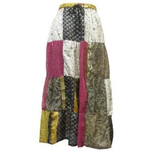 スカート アジアン衣料 ネパール・シルクカート15 クリックポスト選択 送料200円|e-bingo