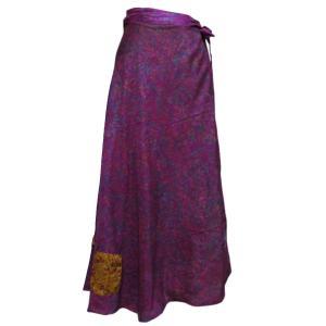 スカート アジアン衣料 ネパール・シルク・ラップスカート18 クリックポスト選択 送料200円|e-bingo