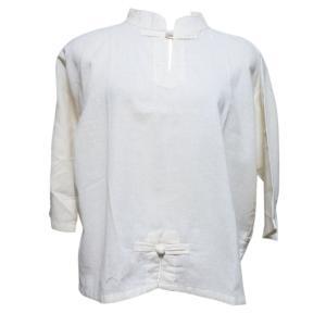 ブラウス アジアン衣料 チャイナブラウス(白色) クリックポスト選択 送料200円|e-bingo