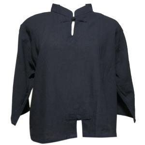 ブラウス アジアン衣料 チャイナブラウス(くろ) クリックポスト選択 送料200円|e-bingo
