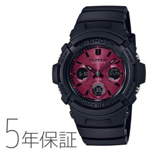 G-SHOCK カシオ CASIO 電波 ソーラー Black and Red Series メンズ 腕時計 AWG-M100SAR-1AJF|e-bloom