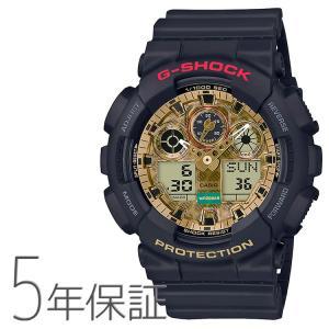 G-SHOCK Gショック GA-100TMN-1AJR カシオ CASIO MANEKINEKO 招き猫 ブラックアイパッチコラボ 黒 金 腕時計 メンズ|e-bloom