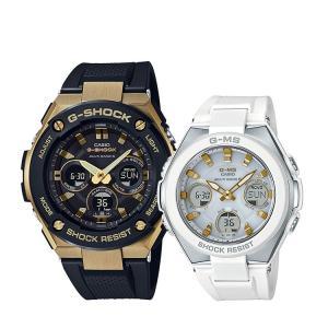 ペアウォッチ ペアセット G-SHOCK/BABY-G 腕時計 G-STEEL/G-MS 電波ソーラー GST-W300G-1A9JF/MSG-W100-7A2JF CASIO カシオ KPAIR0046|e-bloom|02