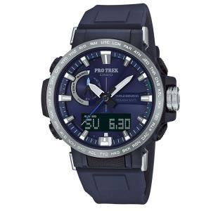 0c4bf4674f カシオ CASIO プロトレック PROTREK ソーラー電波 タフソーラー 10気圧防水 紺 腕時計 メンズ PRW ...