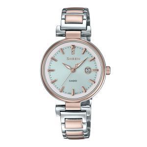SHEEN シーン SHS-4524SCG-7AJF カシオ CASIO ピーチゴールド ソーラー バイカラー レディース 腕時計|e-bloom