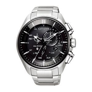 エコドライブ Bluetooth BZ1041-57E シチズン CITIZEN スマートウォッチ チタンバンド クロノグラフ 黒 ブラック エコ・ドライブ メンズ 腕時計 e-bloom