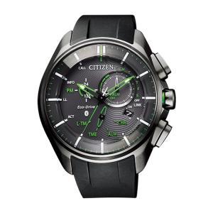 エコドライブ Bluetooth BZ1045-05E シチズン CITIZEN スマートウォッチ チタン クロノグラフ 黒 ブラック エコ・ドライブ グリーン メンズ 腕時計 e-bloom