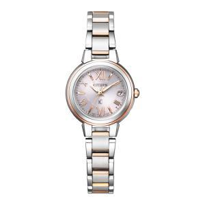 xC クロスシー ES9434-53W シチズン CITIZEN 電波ソーラー ハッピーフライト シルバー レディース 腕時計 e-bloom