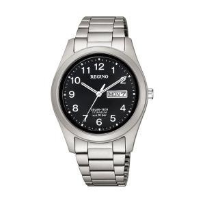 レグノ REGUNO KM1-415-53 シチズン CITIZEN ソーラーテック チタン 黒 ブラック 腕時計 メンズ|e-bloom