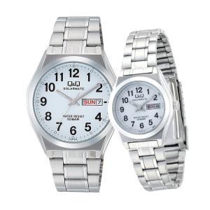 ペアウォッチ ペアセット Q&Q ペア 腕時計 ステンレスバンド 10気圧防水 キューアンドキュー H010-204/H011-204 シチズン 取り寄せ SPAIR0060|e-bloom