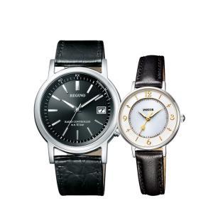 ペアウォッチ ペアセット REGUNO/wicca レグノ ウィッカ ペア 腕時計 黒皮 レザー モノトーン KL7-019-50/KP3-465-10 CITIZEN シチズン SPAIR0106|e-bloom