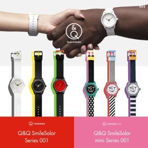 お取り寄せ Q&Q キューアンドキュー Smile Solar スマイルソーラー シチズン 腕時計 男女兼用 SS1 5気圧防水|e-bloom