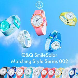 お取り寄せ スマイルソーラー Q&Q SmileSolar Matching Style Series 002 シチズン CITIZEN SS11 レディース メンズ キッズ 子供 生活防水 太陽電池 腕時計|e-bloom