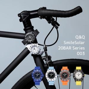 お取り寄せ スマイルソーラー Q&Q SmileSolar 20BAR Series 003 シチズン CITIZEN SS9 20気圧防水 カラフル ビッグフェイス 太陽電池 メンズ 腕時計|e-bloom