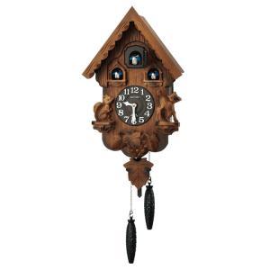 リズム時計 掛け時計 カッコー時計 鳩時計 カッコーパンキーR 茶 4MJ221RH06 e-bloom