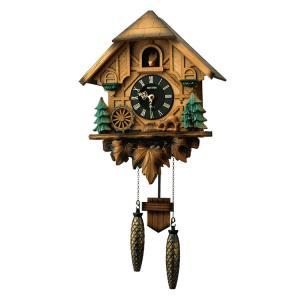 リズム時計 クォーツ掛け時計 カッコーティンバー 4MJ423SR06 e-bloom