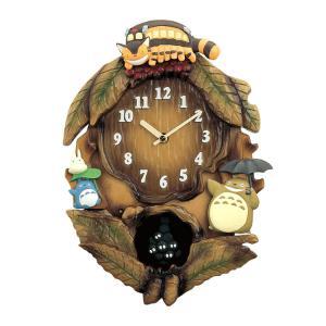 リズム時計 となりのトトロ 掛け時計 トトロM837N 4MJ837MN06|e-bloom
