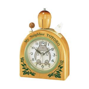 置き時計 目覚まし時計 リズム時計 となりのトトロ R455N 4RA455MN06|e-bloom
