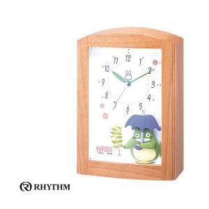 リズム時計 クロック となりのトトロ ジブリ 目覚まし時計 アラームクロック 4RM752MN06 トトロR752N|e-bloom