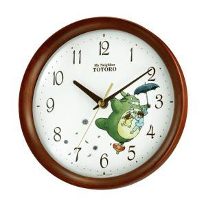 リズム時計 となりのトトロ 掛け時計 キャラクタークロック トトロM27 8MGA27RH06|e-bloom