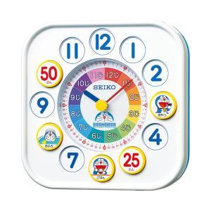 お取り寄せ セイコー SEIKO 置き時計 クオーツ キャラクタークロック ドラえもん 知育時計 CQ319W クロック|e-bloom