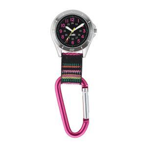 J-AXIS フックウォッチ カラビナホルダー時計 ポケットウォッチ エスニック ピンク AP1322-PI お取り寄せ|e-bloom