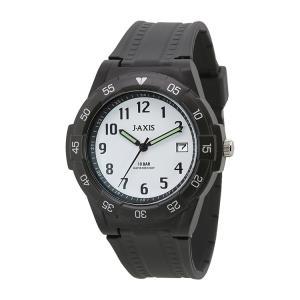 ジェイアクシス J-AXIS サン・フレイム 10気圧防水 腕時計 メンズ NAG49-BKW|e-bloom