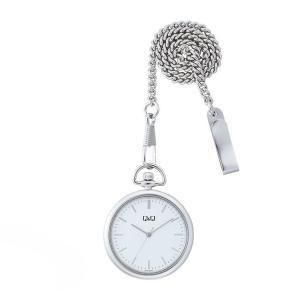 シチズン CITIZEN Q&Q 懐中時計 QA70-201 ポケットウォッチ シルバー|e-bloom