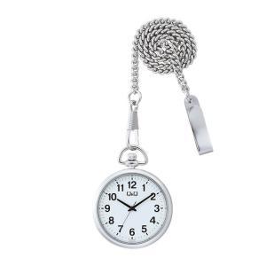 シチズン CITIZEN Q&Q 懐中時計 QA70-204 ポケットウォッチ シルバー|e-bloom