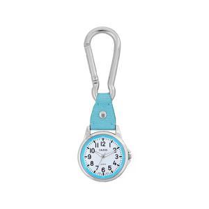 ホルダー時計 カラビナ ウォッチ J-AXIS SCP36-BL ライトブルー 水色|e-bloom
