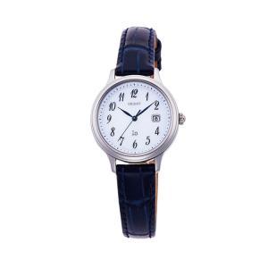 オリエント イオ ORIENT iO ナチュラル&プレーン ライトチャージ 光充電 ネイビー 紺色 革バンド RN-WG0009S レディース 腕時計 取り寄せ e-bloom