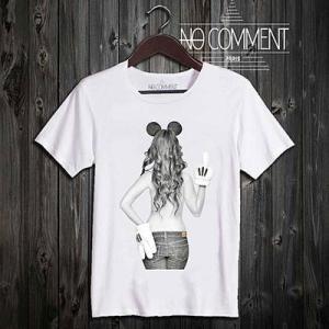(正規品)NO COMMENT PARIS - imprime Mickey mouse [ノーコメントパリ - ミッキー・マウス・ガール] (T-シャツ)(通販)|e-bms-store