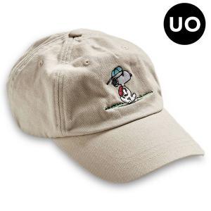 (送料無料)(アーバンアウトフィッターズ新作) Snoopy (スヌーピー) Baseball Hat (キャップ)(ユニセックス)(One Size)|e-bms-store