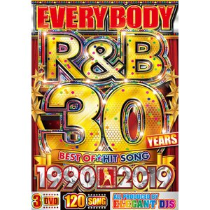 洋楽DVD R&Bベスト 3枚組 ALLフルPV EVERYBODY R&B 30 YEARS 1990-2019 - ELEGANT DJS 3DVD 国内盤