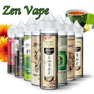 電子タバコ リキッド お茶ブランドリキッドシリーズ Zen Vape Premium E-Liquid 60ml / 70% VG 30% PG (ゼン・ベイプ)Vaporever ヴェポレバー 正規販売店