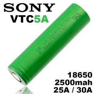 18650 バッテリー ソニー Sony VTC5A 18650 2500mah 充電可能 MOD VAPE 電子タバコ 電池 メーカー正規品