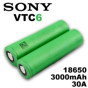 18650 バッテリー ソニー Sony VTC6 18650 3000mAh 充電可能 MOD VAPE 電子タバコ 電池 メーカー 正規品