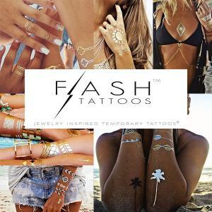 《2015 夏新作》FLASH TATTOOS / フラッシュタトゥー  オシャレでゴージャス!2015年、肌見せの季節にぜひ♪ (あす楽対応) e-bms-store