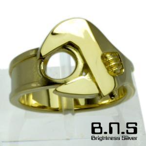 工具の指輪 ゴールドモンキーレンチリング 真ちゅう製 真鍮 ブラス brass