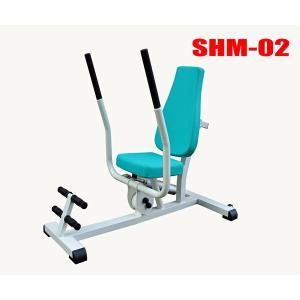 高齢者用油圧式リハビリ器具 SHM-02ローイング・チェストプレス デイサービス機能訓練に 往復抵抗|e-bodyfitness