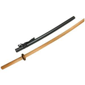 赤樫木刀 大刀+プラスチック鞘(プラスチック鍔+鍔止付)セット