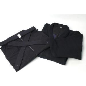 最高級正藍染二重剣道衣【背縫】 、最高級正藍染袴10000番のセットです。  こちらは、道着サイズ3...