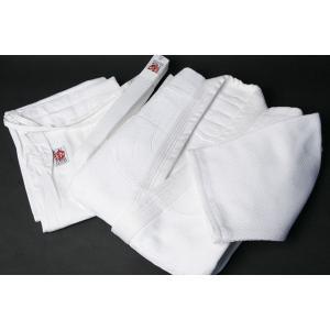 最高級【武徳】ブランド二重合気道衣セット(白) サイズ2〜3|e-bogu