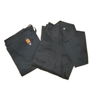 高級 綿100%空手道衣セット(黒) サイズ000〜2 e-bogu